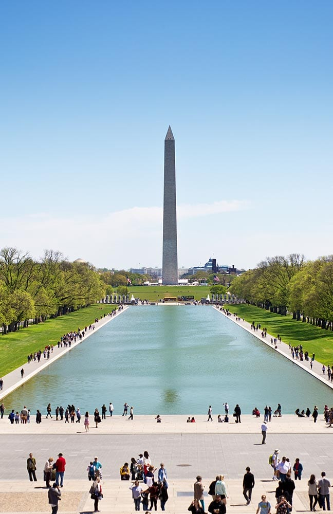 The Washington Monument, a popular tourists attraction. Washington DC, USA.